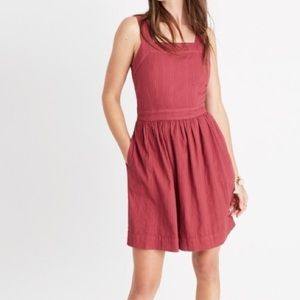 Madewell Apron Tie-Back Dress